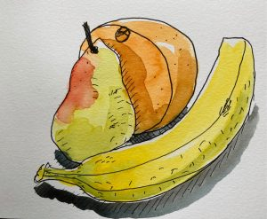 Week 1 Liz Steel SketchingNow Watercolour Course